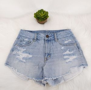 American eagle cheeky distressed shorts